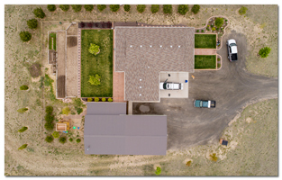 aerial image of a home